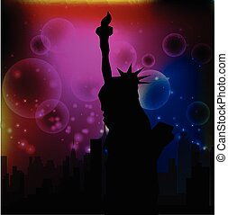 new york abstract background