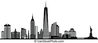 new york american skyline - new york america city skyline ...