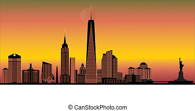 new york american skyline
