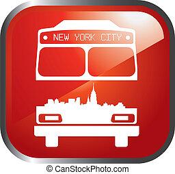 new york, autobus