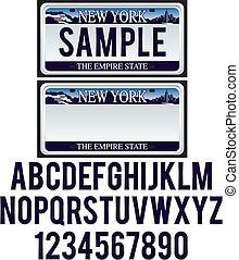 new york, autokennzeichen