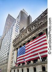new york börse, wall street, new york city