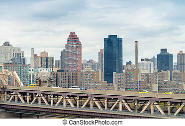 New York buildings over Queensboro Bridge