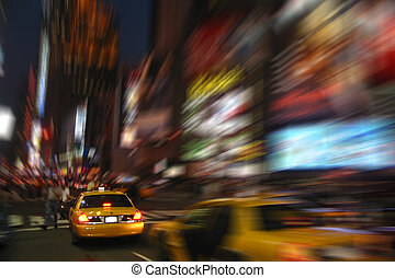 New York Cab Taxi at Times Square