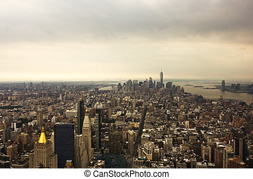 New York City Aerial - An aerial view of New York City...