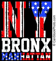 New York City america flag vector print and varsity. For...