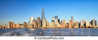 New York City at sunset, Lower Manhattan