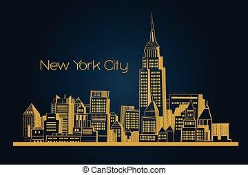 New York city background