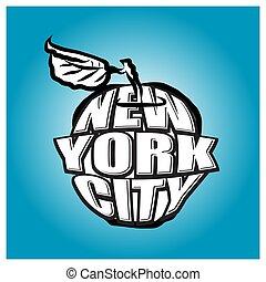 New York City Big Apple Logo