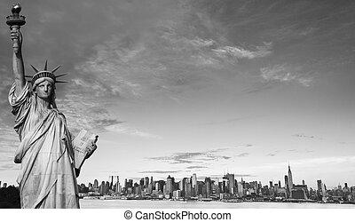 new york city black and white hi contrast