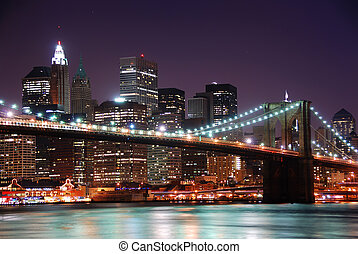 Manhattan - New York City Brooklyn Bridge and Manhattan ...