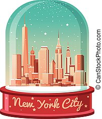 New York City Christmas skyline