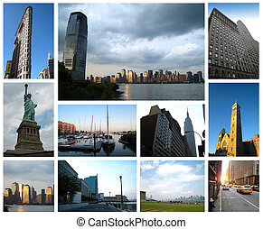 New york city collage - A set of images of new york city and...
