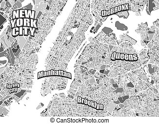 New York City district map