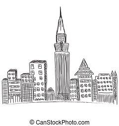 New York City, downtown, city