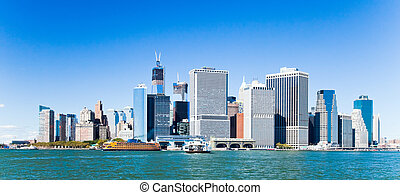 New York City Downtown w the Freedom tower - New York City ...