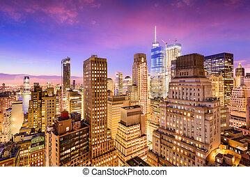new york city, finanzieller bezirk