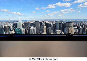 New York City Glass Window View