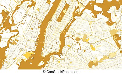 new york city golden map