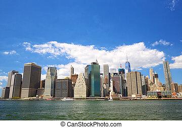 Lower Manhattan skyline - New York City Lower Manhattan ...