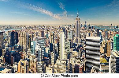 Manhattan aerial view - New York City Manhattan aerial view