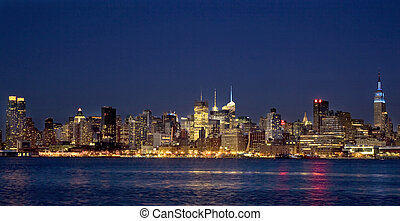 New York City Manhattan at night