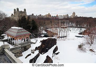 New York City Manhattan Central Park in winter