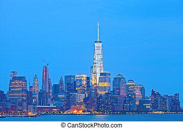 New York City, Manhattan downtown