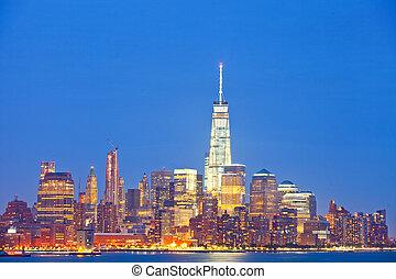 New York City, Manhattan downtown p