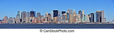 New York City Manhattan downtown panorama