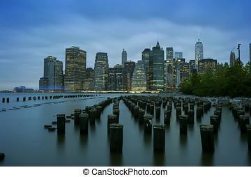 New York City Manhattan Financial District panorama