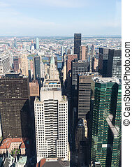New York City Manhattan midtown aerial view