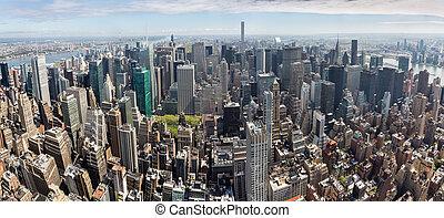 New York City Manhattan midtown panorama