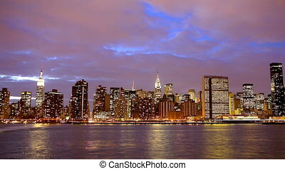 Manhattan midtown - New York City Manhattan midtown skyline...
