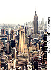Manhattan skyline aerial view - New York City Manhattan ...