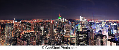 New York City Manhattan skyline at night