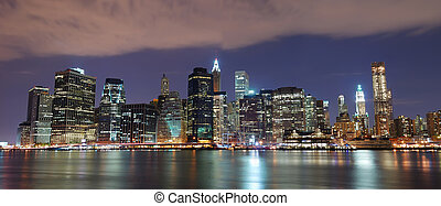New York City Manhattan skyline panorama