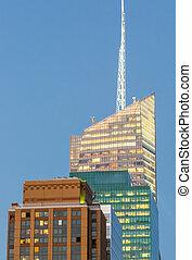 New York City - Manhattan skyscrapers at sunset