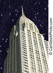 New York City Manhattan with Stars in the Sky