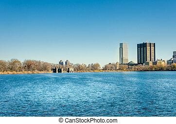 new york city, manhattan, zentraler park, panorama