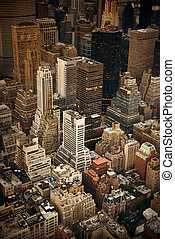 New York City Midtown - Midtown skyscraper buildings rooftop...