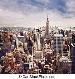 New York City midtown panorama