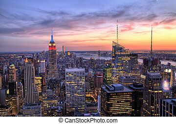 New York City Midtown with Empire State Building at Dusk