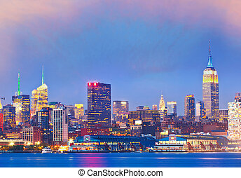 New York City - New York City, USA. Downtown buildings in...