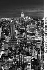 NEW YORK CITY, NY - NOV 19: Empire State Building closeup on November 19, 2011 in New York City. Empire State Building is a 102-story landmark and was world's tallest building for more than 40 years.