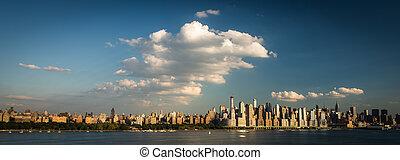 New York City NYC Manhattan Downtown Skyline,