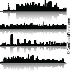 new york city silhouettes