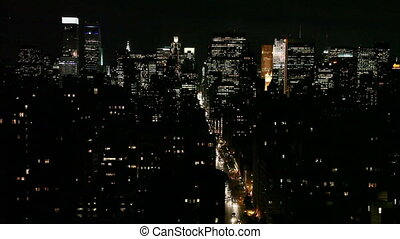 New York City Skyline at Dusk - New York City Skyline at...