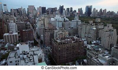 New York City Skyline at Dusk - New York City Skyline with...