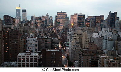 New York City Skyline at Dusk - Timelapse